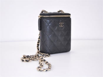 CHANEL Mini Vanity with Classic Chain Kaviarleder Clutch AP1466 Y33352